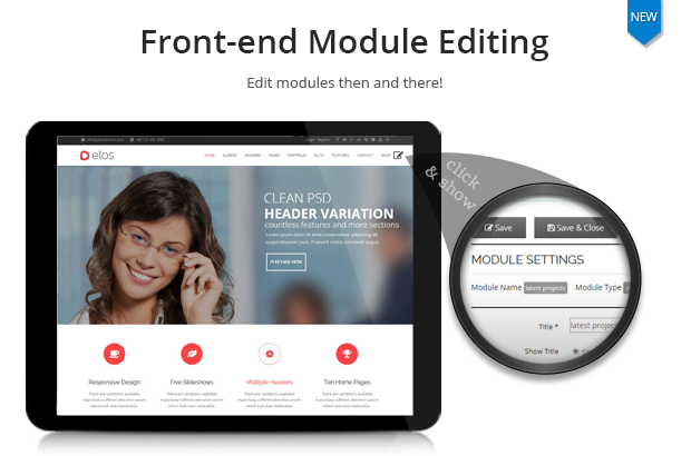 front end module editing