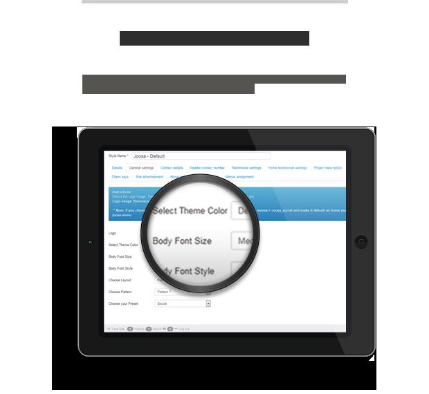Joomla admin panel