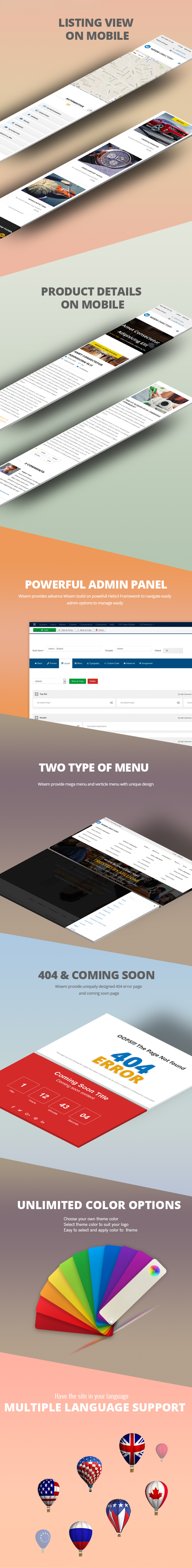 Joomla template for directory