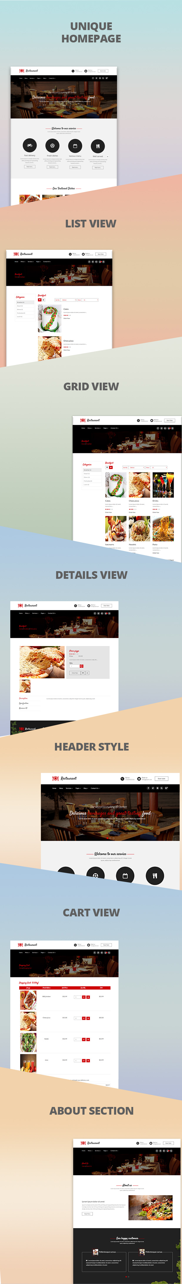 Opencart theme for restaurant – Quick food delivery shop