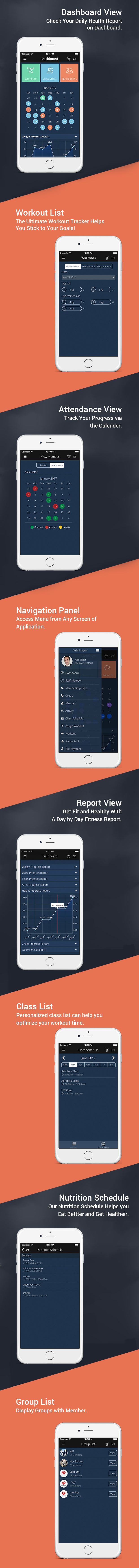 Gym master iphone mobile app