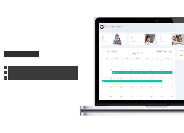 dashboard School Management System