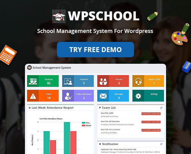 student admission School Management System