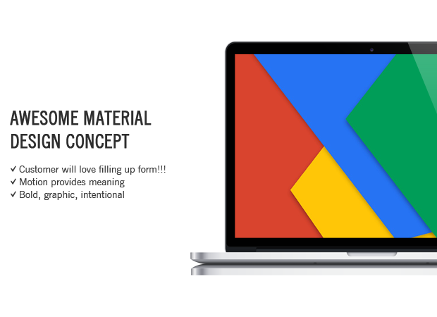 contact form with material design