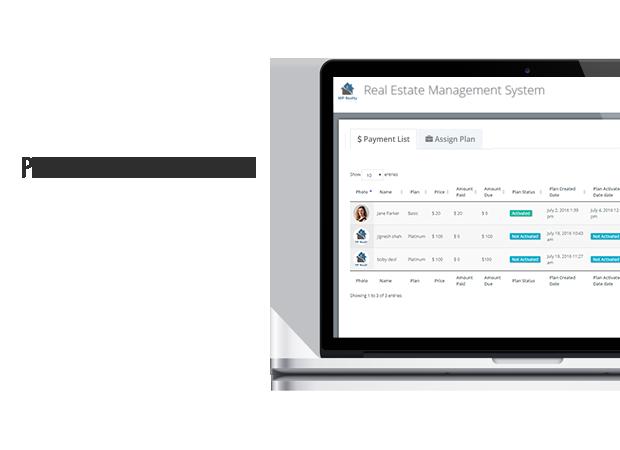 Sistema de gestión de pagos inmobiliarios wordpress