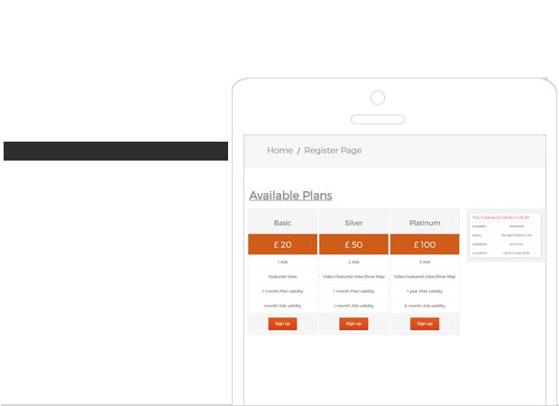 planes de listado de propiedades
